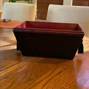 Pottery Barn Wooden Caddy. Brand New In Box